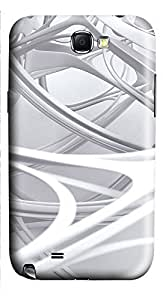 Samsung Note 2 Case 3D white linear 2 3D Custom Samsung Note 2 Case Cover