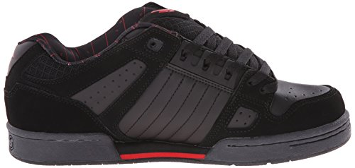 DVS (Elan Polo) Celsius, Zapatillas de Skateboarding para Hombre Negro (De Black/Grey/Red Nubuck Deegan)