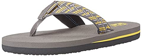 Teva Mush II Kids Flip Flop Sandal (Little Kid/Big Kid), Gray/Yellow, 12 M US Little Kid (Kid Teva Flip Flops)