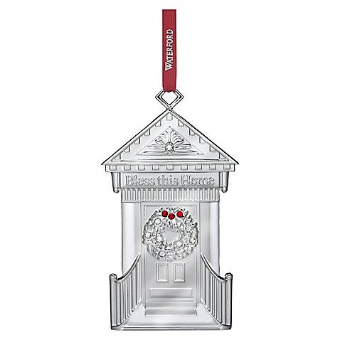 Waterford 2017 Silver ''Bless this Home'' Christmas Ornament (Pack Of 4)
