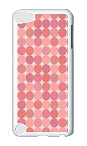 iPod 5 Case,VUTTOO Cover With Photo: Pink Dots For iPod Touch 5 - PC White Hard Case
