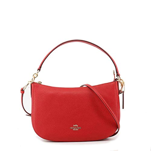 COACH Chelsea Crossbody in Pebble Leather Red