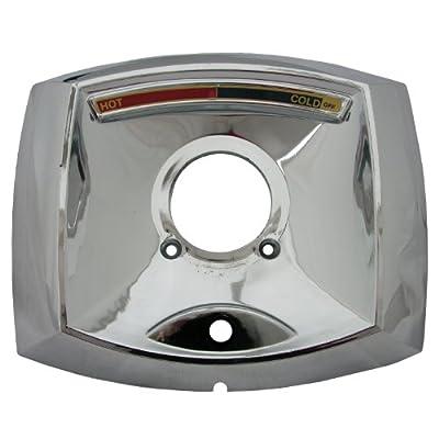 LASCO-Simpatico 31646C Delta Scald Guard Rectangle Shaped, Plastic Trim Plate for Tub and Shower Valve with Hole for Push Button Diverter, Chrome, 0.9L x 7.25W x 6H
