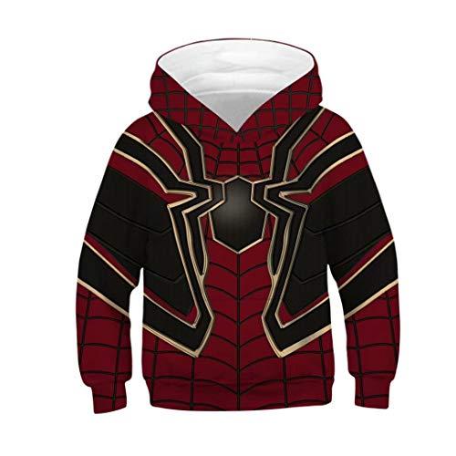 (Boys Kids Superhero Hoodie The Spider Verse Miles Morales Costumes)