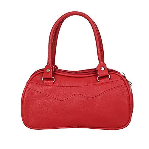 Vintage Cuero Para Mujer Chica Monederos Mano Clutches Bolso Rojo De Bolsos Carteras Pequeño Polp Y Hombro Bandolera qwZCAO0
