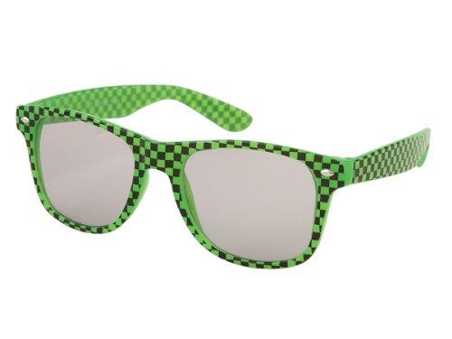400 Chess (Chic-Net sunglasses chessboard unisex nerd glasses clear glass 400 UV Wayfarer bright gray)