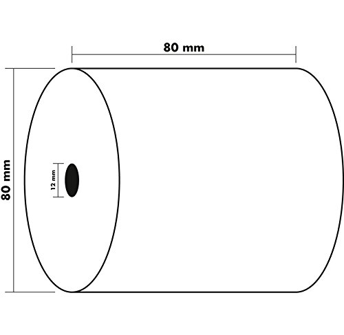 EXACOMPTA Lot de 30 Bobines 1 pli thermique 48g 80x80x12 mm FSC sans BPA 76 m/ètres