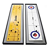 Franklin Sports 45' 2 in 1 Shuffleboard Table and Curling Set