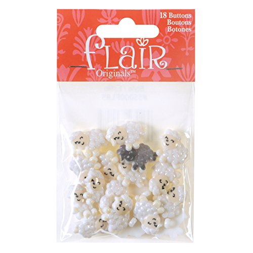 Blumenthal Lansing Company Sheep Shaped Buttons for Sewing & Crafts 18 Piece -