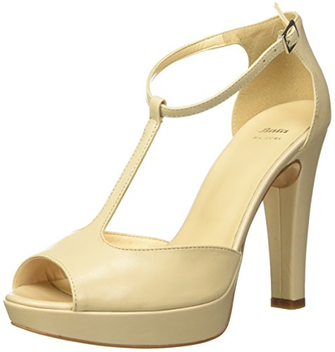 BATA 7248708 - zapatos con correa Mujer Beige