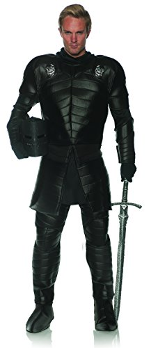 Underwraps Men's Medieval Gothic Knight Costume - Skull Warrior, Black, One Size]()