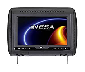 NESA NPM800HDPL 8-in Preloaded Universal Headrest Monitor w/built-in HDMI/USB/Mobile Hi-Definition Link 1080p Media Player (3-Interchangeable Skins: Beige/Black/Gray)