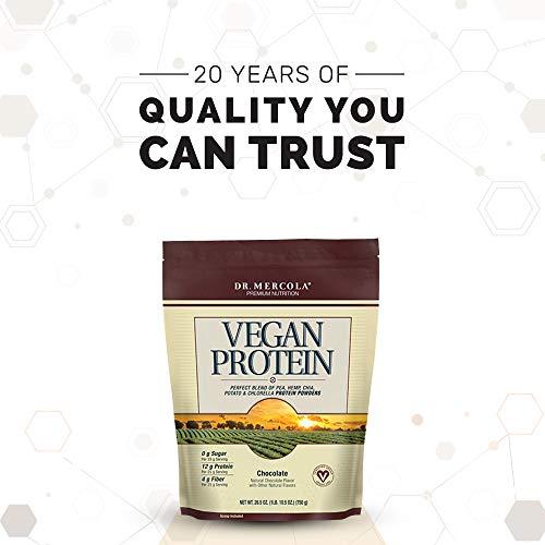 Dr. Mercola Vegan Protein Chocolate - Perfect Blend Of Pea, Hemp, Chia, Chlorella & Potato Proteins - Gluten-Free - Naturally Flavored - 1 lb 6.5 oz (750g) by Dr. Mercola (Image #5)