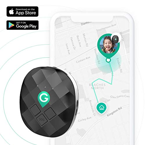 GeoZilla GPS Location Tracker for Kids, Elderly, Pets, Dogs, Luggage | Utilizes Cellular, WiFi and GPS | Accurate and Lightweight | SIM Card and 30 Days Free Data Plan Included