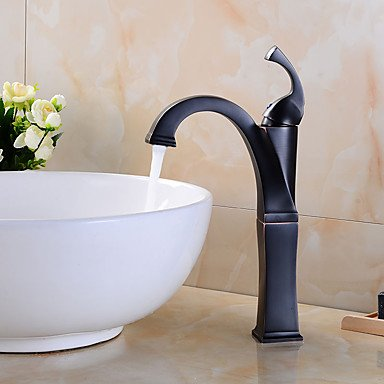 YiXinZhaiPei Oil Rubbed Bronze Tall Single Handle Lever Bathroom Sink Vessel Faucet - Art Deco Faucets