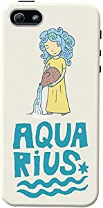 DailyObjects Aquarius Case For iPhone 5/5S Back Cover Multicolor