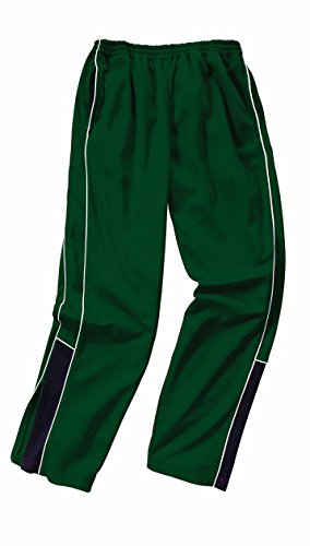 Charles River Apparel Men's Olympian Pant, Forest Green/White/Black, 3 Extra Large