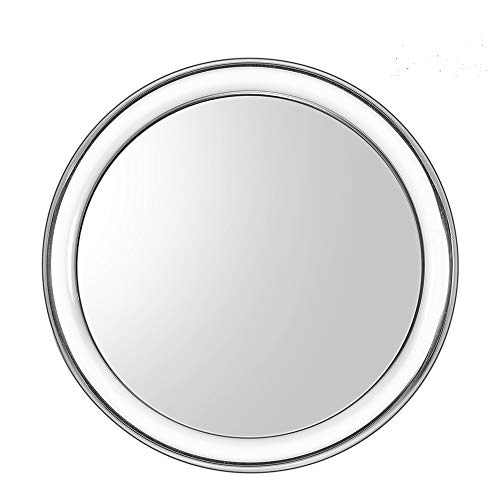Uarzt Makeup Vanity Mirror,10X Magnifying Mirror Detachable Beauty Mirror 4 inch Round Makeup Cosmetic Mirror for Bathroom or Bedroom Table (10X)