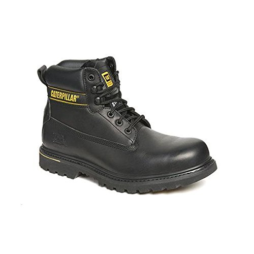 Caterpillar CATHOLTBK10 Hotlen Chaussures de sécurité en cuir avec cousu Goodyear Noir Taille 44