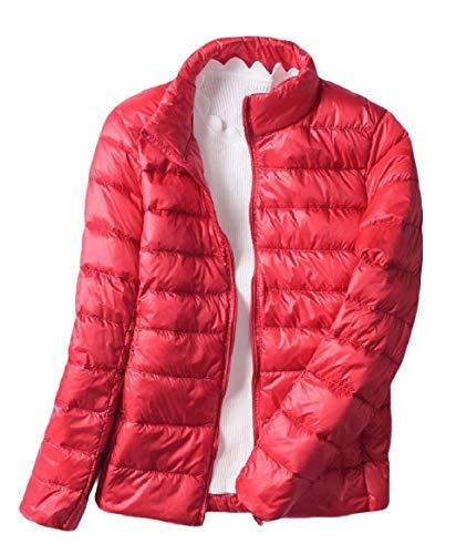 Short Style Weight Red Men Stand RkBaoye Down Light Outwear Ultra Puffer Collar Jacket nOqpwIH