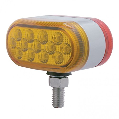 United Pacific 39729 13 Dual Function Reflector Double Face Oval Light LED//Amber /& Red Lens