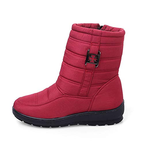 Size Boots five Snow Winter thirty Ykfchdx Warmth five Cotton Fashion Women gules Big Thirty Shoes 57qXq