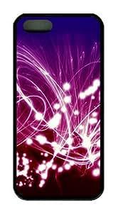 iPhone 5 5S Case, iCustomonline Shining Designs Case for iPhone 5 5S Hard Black