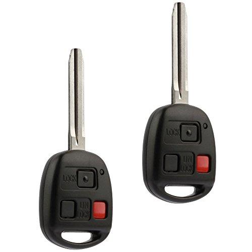 (Car Key Fob Keyless Entry Remote fits Toyota 1998 1999 2000 2001 2002 Land Cruiser (HYQ1512V, 89070-60090), Set of 2)