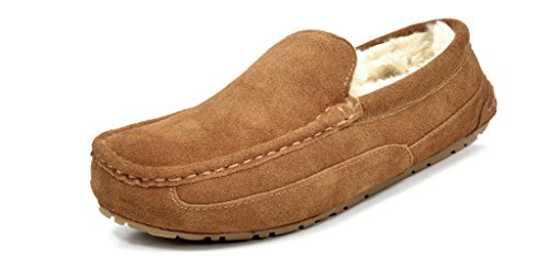 DREAM PAIRS AU-LOAFER New Men's Winter Comfort Suede upper Soft Sheepskin Fur Lining Slipper Loafers Shoes DREAM...