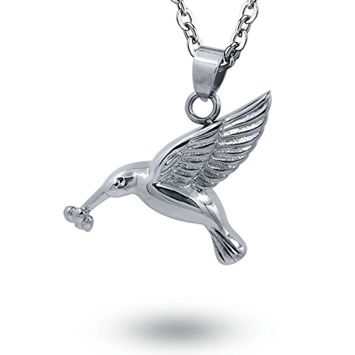 COCO Park Flying Hummingbird Ash Necklace Stainless Steel Ur