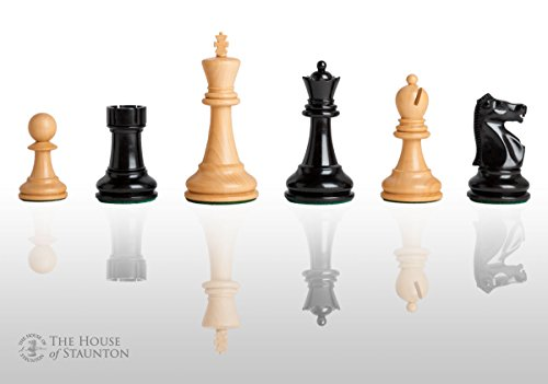 The House of Staunton - The Official Pawn Sacrifice Chess Set - Pieces Only - 3.75'' King - Ebonized Boxwood by The House of Staunton