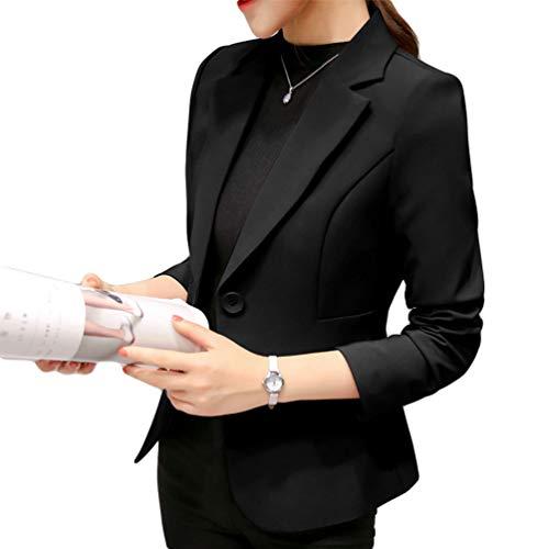 07d2c70d2dba Negro Escudo Blazers Oficina Y Kaiyei Mujer Slim Dama Otoño Trabajo Office  Primavera Blazer Chaquetas Traje ...