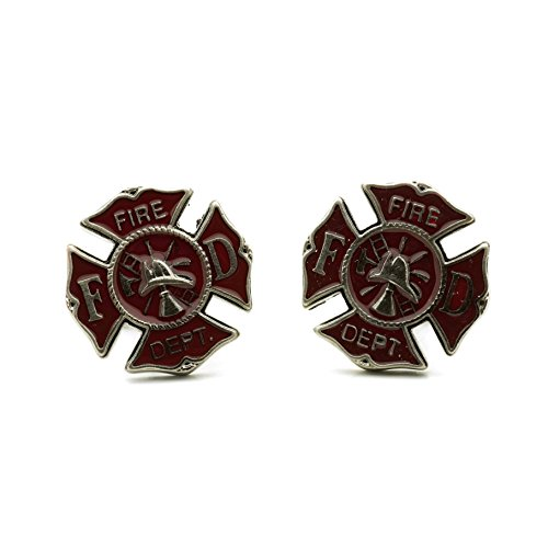 - Teri's Boutique Men's Fashion Fire Department Fire Fighter Proud Cufflinks w/ Free Gift Box
