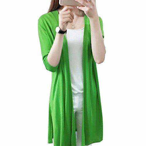 EASONDDD カーディガン レディース ロング ニット エレガント シンプル 羽織り アウター 薄手 長袖 体型カバー UVカット ゆったり 無地 日焼け