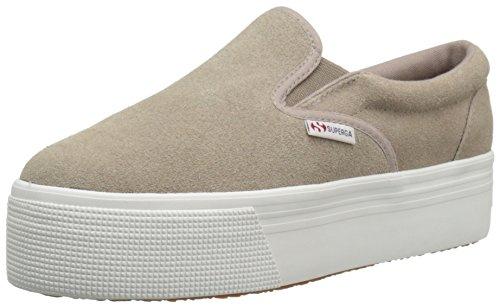 Superga Women's 2314 Suew Fashion Sneaker, Sand, 39.5 EU/8.5 M US