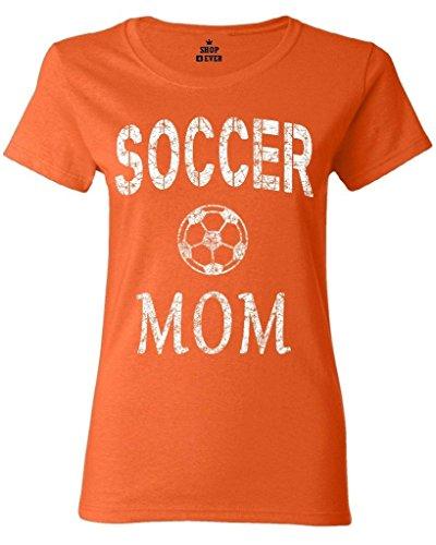 Shop4Ever Soccer Mom Women's T-Shirt Sports Shirts X-Large Orange 0