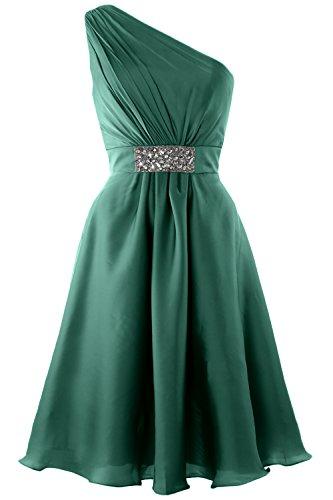 MACloth Elegant One Shoulder Cocktail Dress Short Wedding Party Formal Gown Oasis