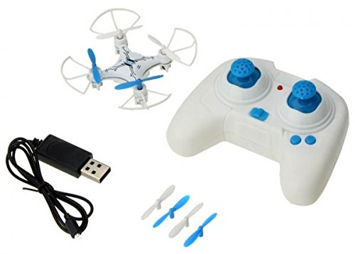 Super Gyro (Funny RC Toy JJ810 Mini RC Quadcopter Toy 2.4G 4CH 6 Axis Gyro Drone with LED Light Super Flight quadrocopter (Blue)