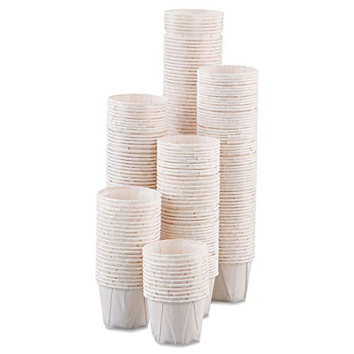 Dart 100-2050 Paper Portion Cups, 1oz, White, 250/bag, 20 Bags/carton