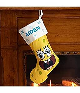 Personalized SpongeBob Fleece Stocking - Christmas