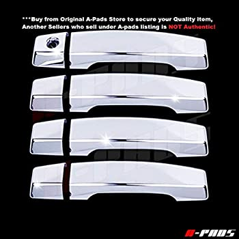 NOT for Heritage A-PADS 2 Chrome Door Handle Covers for Ford F150 2004-2014 WITH Passenger Keyhole /& WITHOUT Keypad