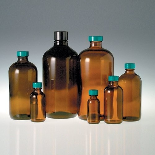 qorpak-glc-01904-boston-round-bottle-with-20-400-green-thermoset-f217-and-ptfe-lined-cap-2-oz-amber-