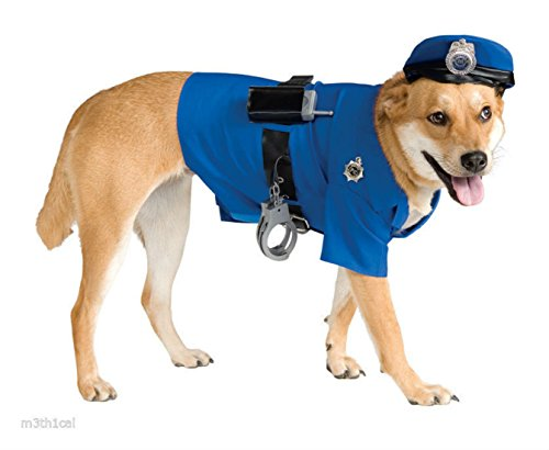 Police Officer Cop Pet Halloween Costume -Cosplay (Dog Costume Police Officer)