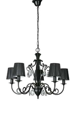 Lirio by Philips Colgante 3668030LI - iluminación de suspensión (Montaje flexible, Negro, Negro, Metal, Dormitorio, Salón, Patrimonio)