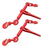 WennoW 2pc 2600 LB. 1/4'' or 5/16'' Ratchet Load Binder Chain Equipment Tie Down Rigging
