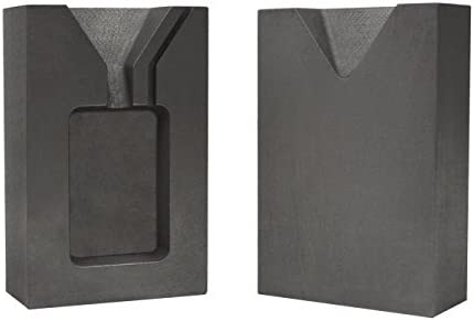 1 Troy Ounce Silver Rectangular Two Part Split Graphite Ingot Mold Precious Metal Casting Melting