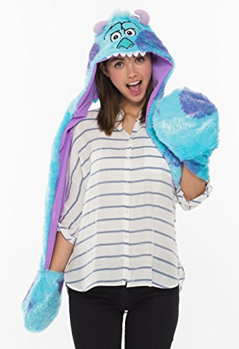 Disney Sulley Costume Adults (Disney Monsters, Inc. Sally moving fluffy hood costume accessories for men and women shared length 105? 95389)