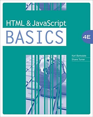 (HTML and JavaScript BASICS )