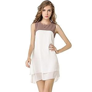 JBZYM VD77792C1 Irregular Double Collar Women Dresses - Size S