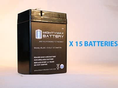 Mighty Max Battery Battery SW645 SUNNYWAY SHENZHEN 6V 4.5AH Each 15 Pack Brand Product
